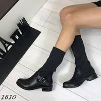 Женские стильные сапоги черные АВ-1610