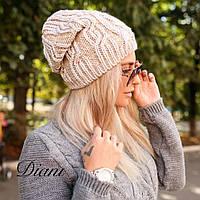 Модная вязаная шапочка с люрексовой нитью