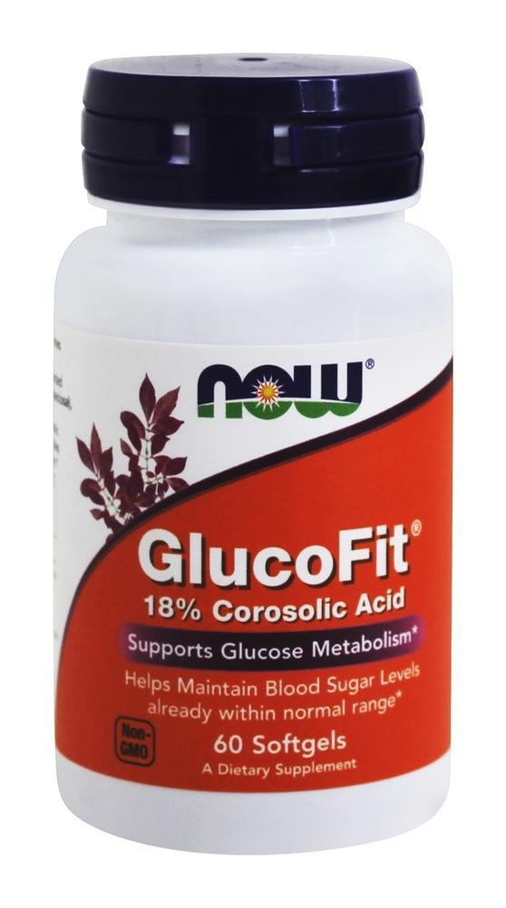 Глюкофит. Нормализует уровень сахара в крови / NOW - Glucofit (60 softgels)