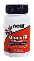 Глюкофит. Нормализует уровень сахара в крови / NOW - Glucofit (60 softgels), фото 1