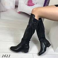 Женские стильные сапоги черные АВ-1611