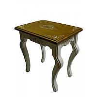 Журнальный столик деревянный Молочный прованс