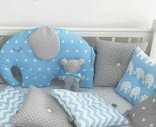 Бортики в ліжечко - 4 сторони зі слоником
