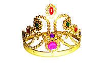 Карнавальная Корона Принцессы Детская Пластиковая Корона с Напылением и Имитацией Драгоценных Камней
