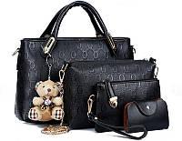Элегантный набор женских сумок с оригинальным дизайном 4в1 + подарок
