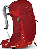 Туристический удобный рюкзак на 26 л. Osprey Stratos 26 Beet Red S, красный