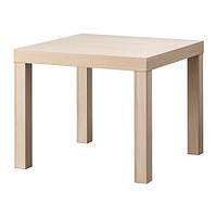 """IKEA  """"ЛАКК"""" Придиванный столик, под беленый дуб, 55x55 см"""