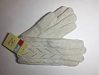 Перчатки женские с модной вязкой (шерстяной), зимние