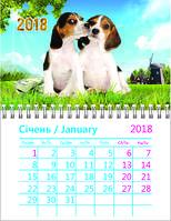 """Календарь """"Год Собаки"""" на 2018 год Бигль (магнит)"""