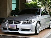 НАКЛАДКА (ЮБКА) ПЕРЕДНЯЯ BMW E90 В СТИЛЕ HARTGE дорестайлинг