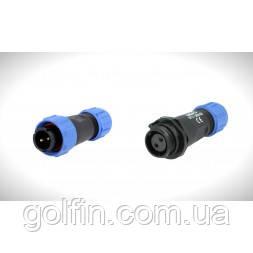 Коннектор DC комплект 2 pin plastic мама-папа