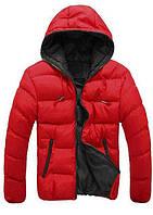 Куртка мужская теплая красная