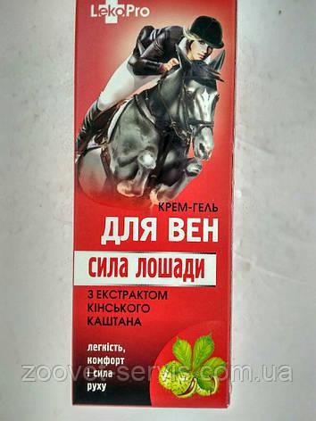 """Крем-гель для вен """"Сила Лошади"""" LekoPro, фото 2"""