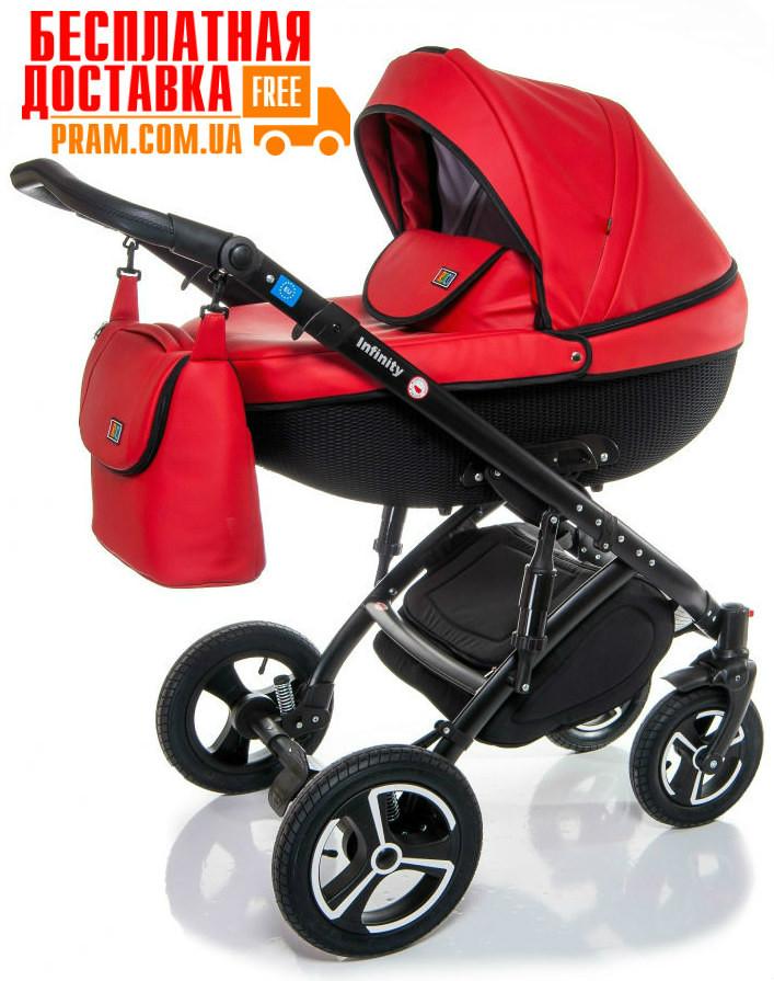 Универсальная коляска 2 в 1 Broco Infinity Eco Красный