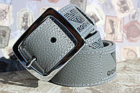 Кожаный ремень Giorgio Armani под джинсы