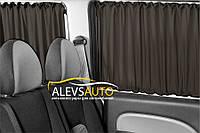 Шторы VolksWagen Caddy 2004-2010 Черные