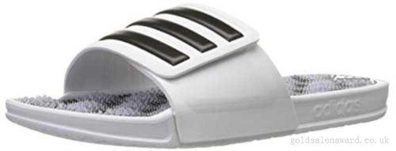Массажные шлепанцы Adidas Performance Men's Adissage 2.0 M Stripes Sandals,White, р. 37,5