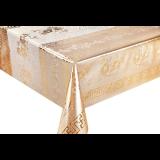 Клеенка ПВХ на тканной основе чеканная золото 8092 А S