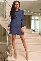Стильное женское джинсовое платье