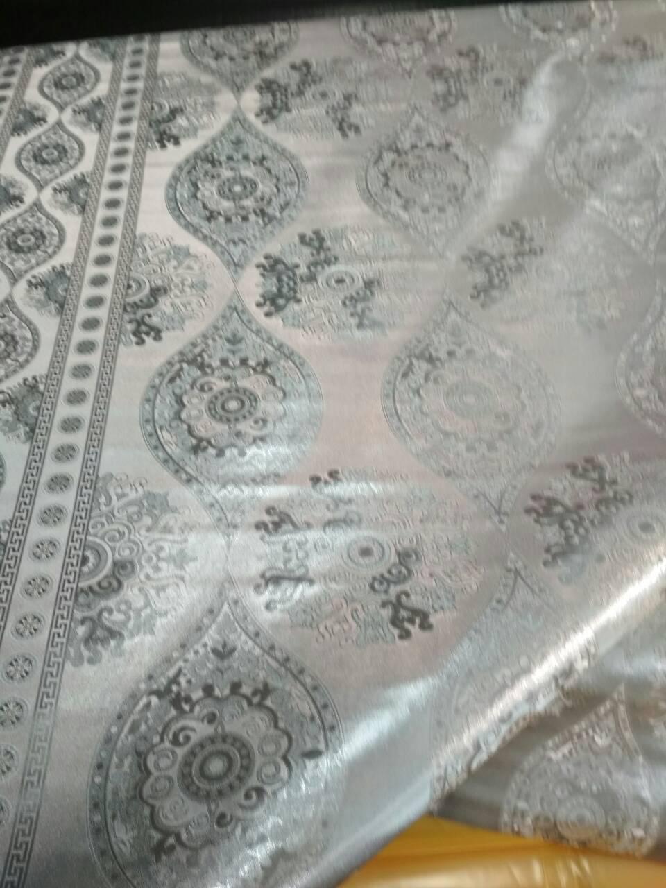 Клеенка ПВХ на тканной основе шелкография серебро 8477х