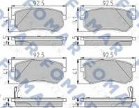 Колодки тормозные задние диск. i10 07-/ Picanto 04- SP1189