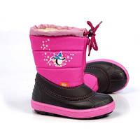 Детские зимние сноубутсы Demar, розовые
