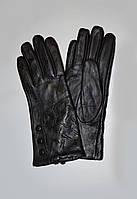 Кожаные перчатки женские, утеплённые на плюше