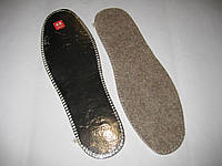 Стелька зимняя с алюминиевой фольгой и войлоком - 48 размер.