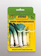 Семена на ленте лук-порей Карантанский 5м