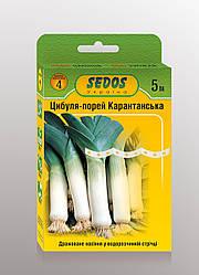 Семена на ленте лук-порей Карантанский 5м ТМ SEDOS