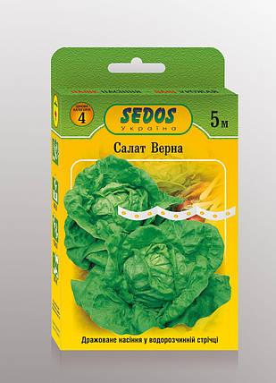Насіння на стрічці салат Вірна 5м ТМ SEDOS, фото 2