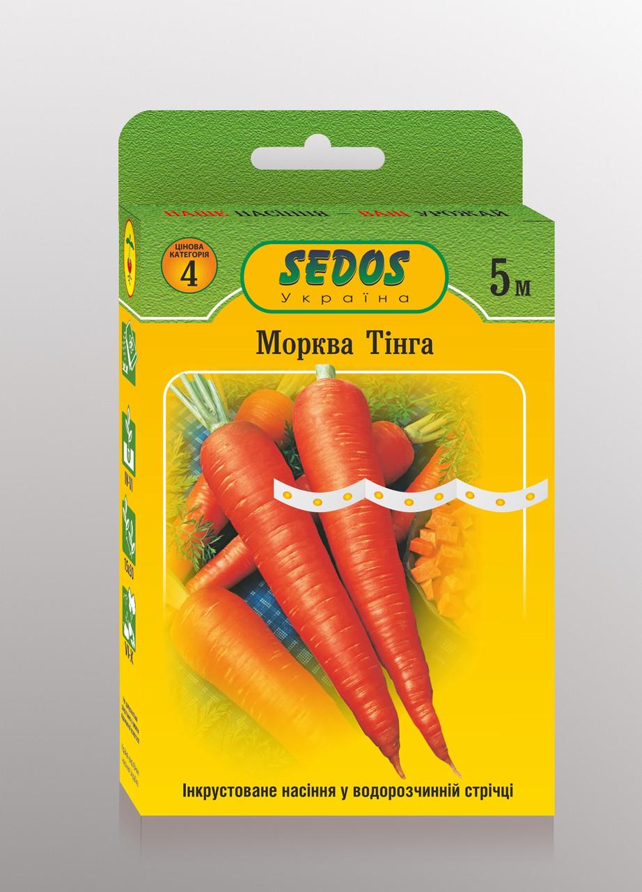 Семена на ленте морковь Тинга 5м ТМ SEDOS