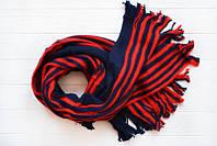 Теплый зимний шарф в полоску