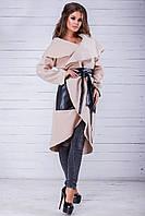 Женский кардиган с поясом по 58 размер, фото 1