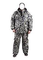 Зимний костюм для охоты и рыбалки Зеленый пиксель, температура комфорта -30