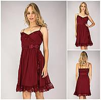Женское Платье Betsey Johnson состояние 5+ Цвета Марсал  |S/42-44|р.