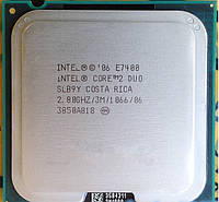 МОЩНЫЙ ПРОЦЕССОР на 2 ЯДРА для СТАРЫХ МАТ.ПЛАТ S 775 Intel Core2DUO E7400 (2 ЯДРА по 2,8Ghz каждое