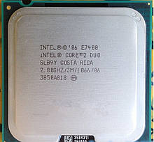 МОЩНЫЙ ПРОЦЕССОР на 2 ЯДРА для СТАРЫХ МАТ.ПЛАТ S 775 Intel Core2DUO E7400 (2 ЯДРА по 2,8Ghz каждое