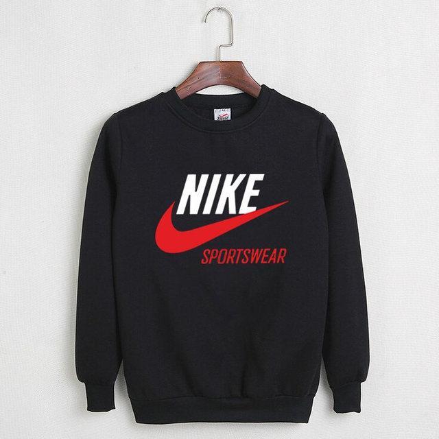 "Мужской СВИТШОТ Nike - Sportswear  ""Black-Gray"" (в стиле Найк )"