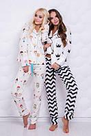 Красивая женская пижама в расцветках (рубашка и штаны) r-720008, фото 1