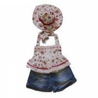 Летний нарядный комплект для маленькой девочки, Mantar Bebe, Турция