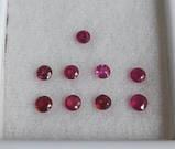 Рубин натуральный природный 10шт по 3 мм 0,11 Кт, фото 2