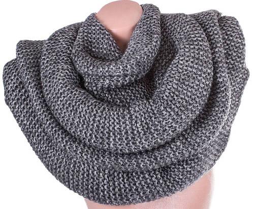 Красивый шарф-хомут шерстяной женский ETERNO DS1309-5, цвет серый.