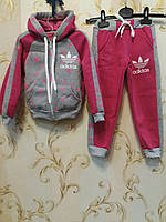 Детский спортивный костюм  трикотаж на флисе на девочку  (р.28/34) купить оптом , фото 1