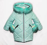 Пальто детское зимние для девочки Вязка