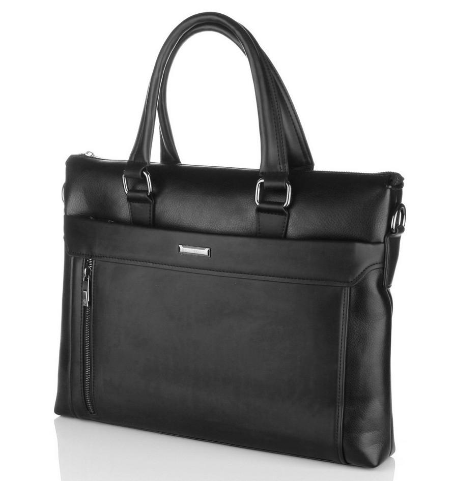 a8809829f798 Мужская сумка Bradford 8650-5 черная для планшета и документов А4  искусственная кожа 37см х 29см х 9см