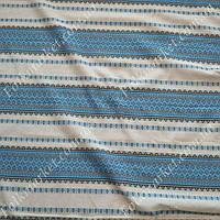Ткань с голубой вышивкой на льне Мистраль ТДК-60 1/2