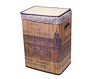"""Корзина для белья квадратная складная """"Ellis Island"""" с траневым мешком высота 60см"""