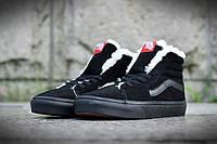 Vans Old School Suede Black С МЕХОМ. Зимние кроссовки ванс. Интернет магазин обуви. Стильные кроссовки.