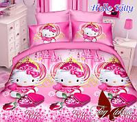 Комплект постельного белья для детей Hello Kitty (ДП евро-063)